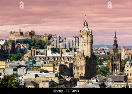 Edinburgh Cityscape, Scotland - Stock Photo