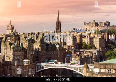 Edinburgh, skyline from Calton Hill - Stock Photo