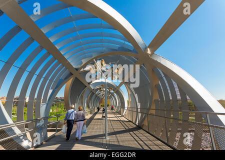 Madrid, Arganzuela Bridge - Stock Photo