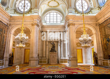 Madrid, the Halberdiers room in Royal Palace - Stock Photo