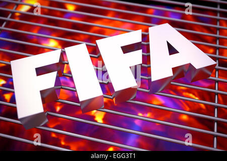 FIFA feeling the heat - Stock Photo