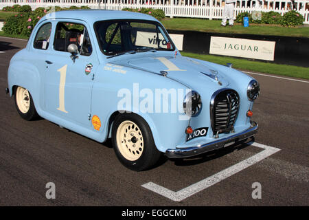 Tony Jardine's 1957 Austin A35 on the starting grid / Goodwood Revival / Goodwood / UK - Stock Photo