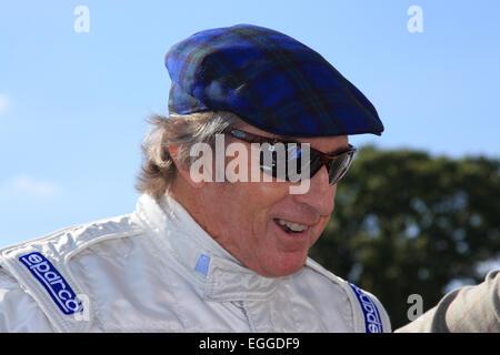 Three-times F1 World Champion Sir Jackie Stewart, legendary driver & tireless advocate for motorsport safety / Goodwood - Stock Photo