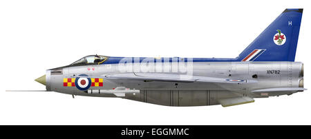English Electric Lightning F.2A XN782 92 Squadron. 92 Squadron's Lightnings are possibly best known for the NMF - Stock Photo