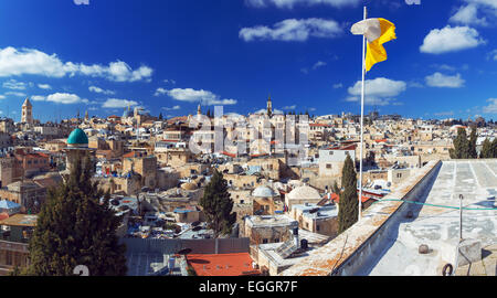 panorama - roofs of old city, jerusalem - Stock Photo