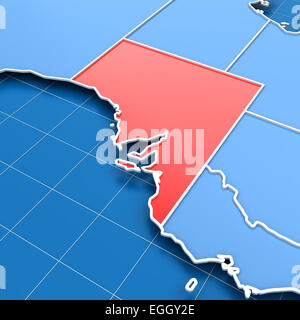 3d render of South Australia map - Stock Photo