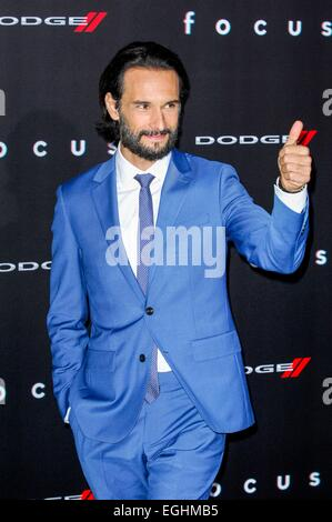 Los Angeles, California, USA. 24th February, 2015. Rodrigo Santoro Focus Film Premiere 24/02/2015 Hollywood/picture - Stock Photo