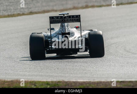 Daniel Ricciardo (AUS), Infiniti Red Bull Racing RB11, Formula 1 testing sessions, Circuit de Catalunya. - Stock Photo