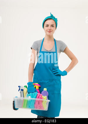 Beautiful Cleaning Lady At Her Work Stock Photo Royalty