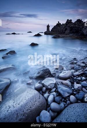 Iceland, Grindavik, sea, surf, - Stock Photo