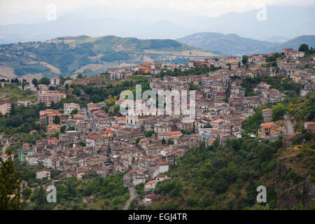 lungro village, sila, calabria, italy, europe - Stock Photo