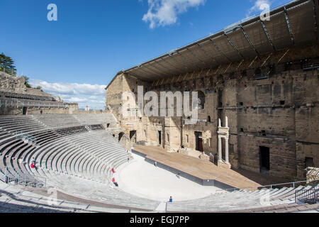 ORANGE, FRANCE - MAY 13, 2014: A view of the historic roman theatre in the town centre. - Stock Photo