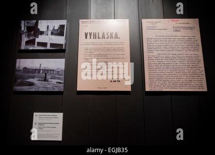 Prague, Czech Republic. 25th Feb, 2015. Exhibition by Czech documentary film-maker Martin Smok Lost Hopes - Postwar - Stock Photo