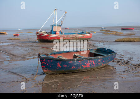 Fishing boats in morecambe bay lancaster uk stock photo for Inshore fishing boats