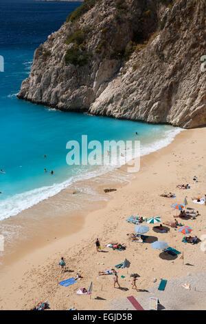 Kaputas beach, near Kalkan, Lycia, Antalya Province, Mediterranean Coast, Southwest Turkey, Turkey, Asia - Stock Photo