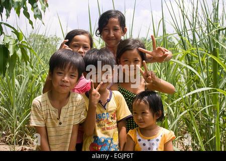 Small Vietnamese girl portrait Vietnam, Asia - Stock Photo