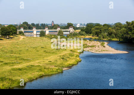 River Ruhr, dam, Raffelberg in Mülheim, Germany - Stock Photo