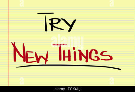 Try New Things Concept - Stock Photo