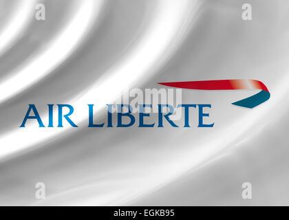 Air Liberte logo icon symbol flag emblem - Stock Photo