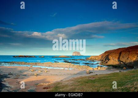 Bass Rock from North Berwick, East Lothian - Stock Photo