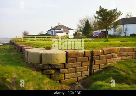 Sea lock end of the canal. Carlisle Navigation Canal, Port Carlisle, Solway Coast, Cumbria, England, UK - Stock Photo