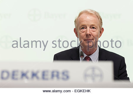 Marijn Emmanuel Johannes Dekkers, CEO of Bayer AG, a german chemical and pharmaceutical company - Stock Photo