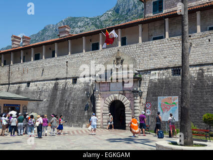 The Sea Gate, main entrance to the old city of Kotor - Stock Photo