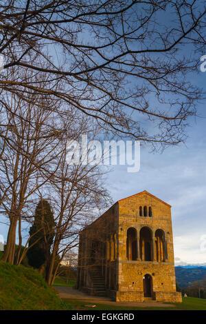 church of St Mary at Mount Naranco. Oviedo, Asturias, Spain. Europe. - Stock Photo