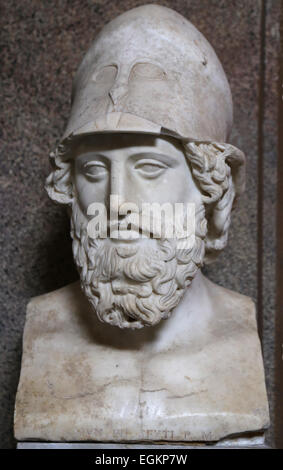 Greek art. General (so-called Themistokles). Marble. Roman copy of the from a Greek original of ca. 400 B.C. Vatican - Stock Photo
