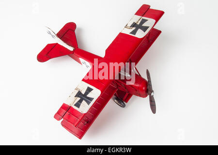 Hand crafted model of a German World War One biplane - Stock Photo