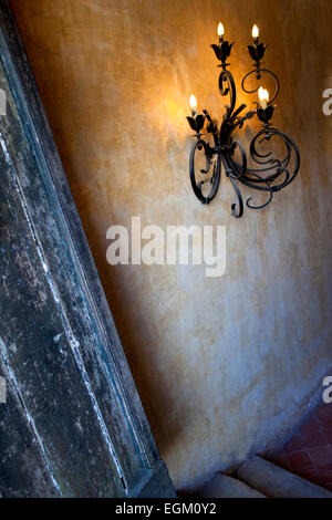 Stairs And Wall Old Wrought Iron Stairs In Front Of A