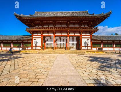 Todai-ji temple Main hall, Nara, Japan. - Stock Photo