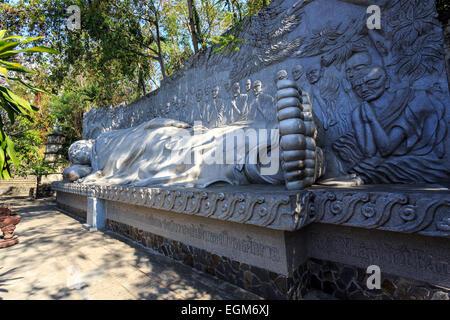 Reclining Buddha At Long Son Pagoda In Nha Trang, Vietnam - Stock Photo