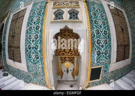 The Imperial Harem was the inner sanctum of the Topkapi Palace where the Sultan and his family lived. Standing on - Stock Photo