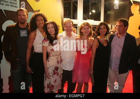 WORLD PREMIERE OF 'SERENITY' MOVIE, (l to r: Adam Baldwin, Gina Torres, Summer Glau, Joss Whedon, Jewel Staite, - Stock Photo