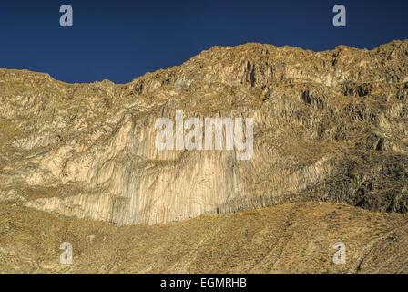 Picturesque view stone walls around Canon del Colca, famous tourist destination in Peru - Stock Photo
