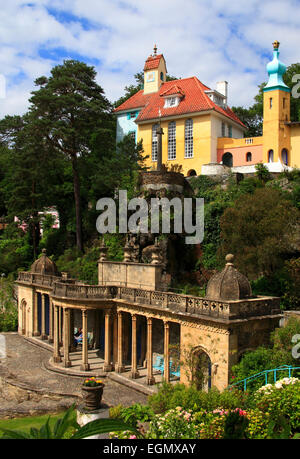Portmeirion Village, Wales, United Kingdom, Europe - Stock Photo