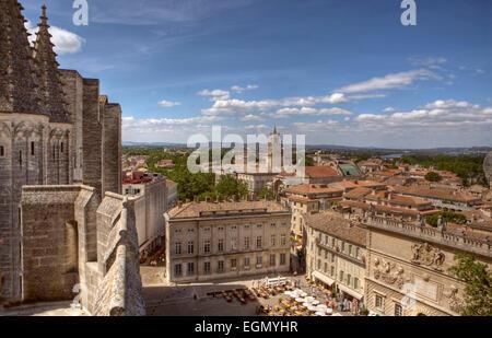 The Palace of Popes (Palais des Papes), Avignon, France - Stock Photo