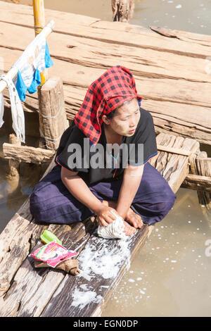 """In Dein or Indein village on """"Inle Lake"""" Myanmar Burma ..."""