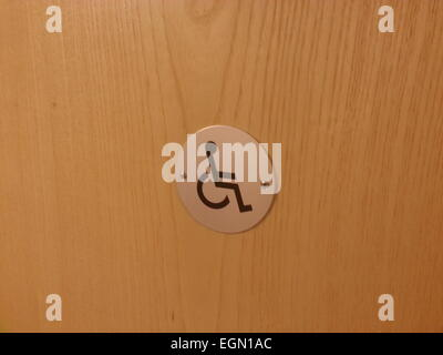 Disabled toilet, sign on the door - Stock Photo