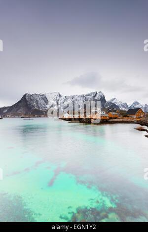 Europe, Scandinavia, Norway, Lofoten islands, Moskenesoy, Sakrisoy - Stock Photo