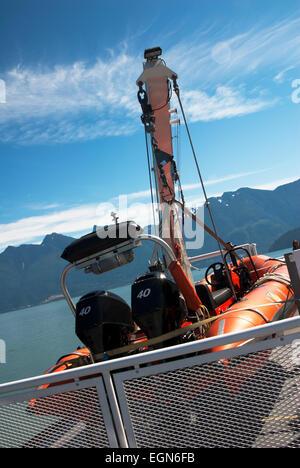 Lifeboat on ship - Stock Photo