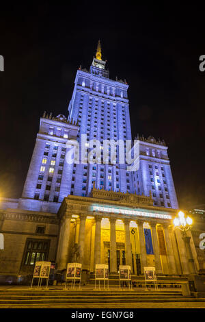 Warsaw's Imposing Palace of Culture and Science - Stock Photo