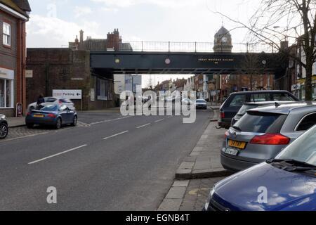Network Railway Bridge Hungerford High Street - Stock Photo