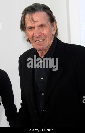 Leonard Nimoy attends the premiere of 'Star Trek Into Darkness' at the Dolby Theater in Hollywood, Los Angeles on - Stock Photo