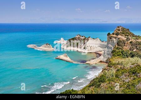 Cape Drastis at Corfu, Greece - Stock Photo