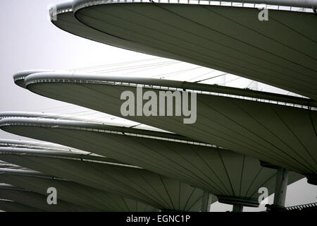 A view of the grandstands at the Shanghai International Circuit - Stock Photo