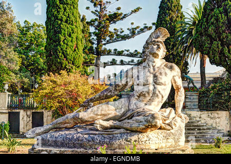 The Achilleion Palace in the Village Gastouri of Corfu build by Empress Elisabeth of Austria (known as 'Sissi') - Stock Photo