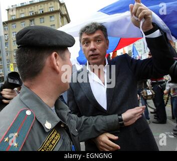 Moscow, Russia. 27th February, 2015. FILE PIX: Boris Nemtsov, a longtime Russian opposition leader and sharp critic - Stock Photo