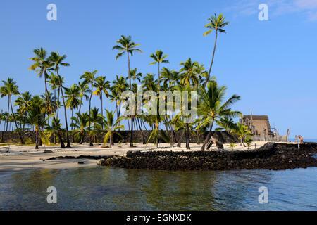 Pu'uhonua O Honaunau National Historical Park, Big Island, Hawaii, USA - Stock Photo